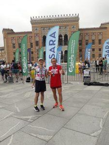 sa Draganom Mladenovićem nakon maratona